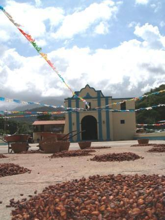 Chuao Church and beans