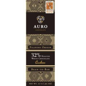 Auro Roasted White with Cashew 32% 27 gr - front 800x800