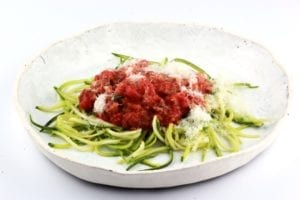 courgetti met bolognesesaus 1