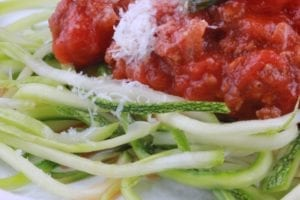 courgetti met bolognesesaus 4